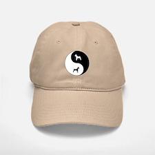 Yin Yang Rat Terrier Baseball Baseball Cap