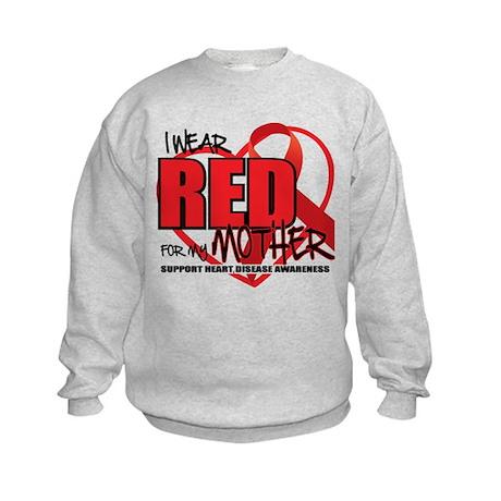 HD: Red For Mom Kids Sweatshirt