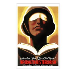Information Is Terrorism! Postcards (Package of 8)