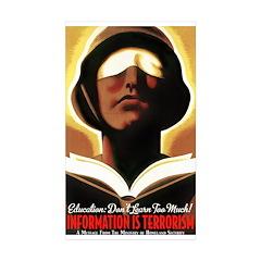 Information Is Terrorism! Rectangle Sticker 10 pk