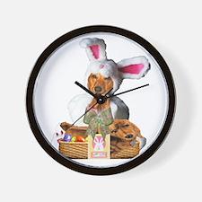 Easter Bunny Tiger Wall Clock