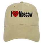 I Love Moscow Russia Cap
