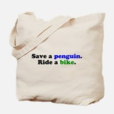 Save a Penguin Tote Bag