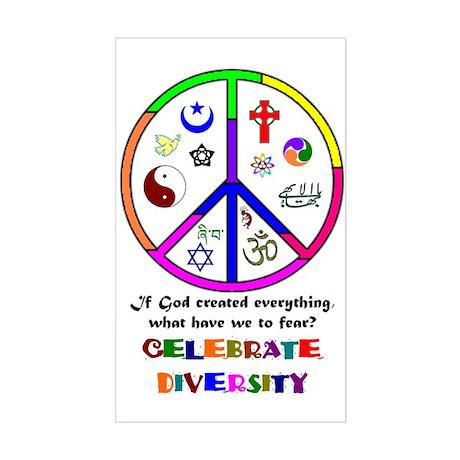 Embrace Creation Rectangle Sticker