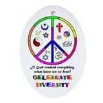 Embrace Creation Oval Ornament