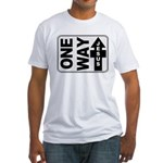 One Way Jesus Christian Fitted T-Shirt