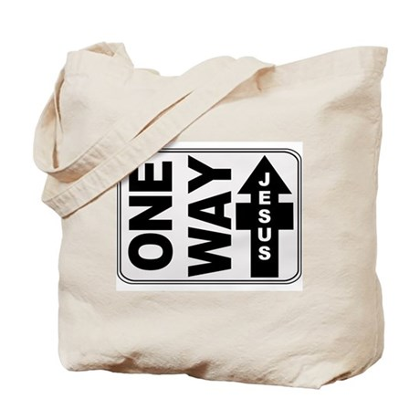 One Way Jesus Christian Tote Bag