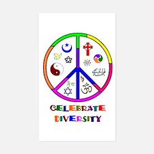 Celebrate Diversity Rectangle Decal