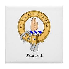 Cute Scottish clan badge Tile Coaster