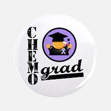 """Chemo Grad Cancer 3.5"""" Button"""