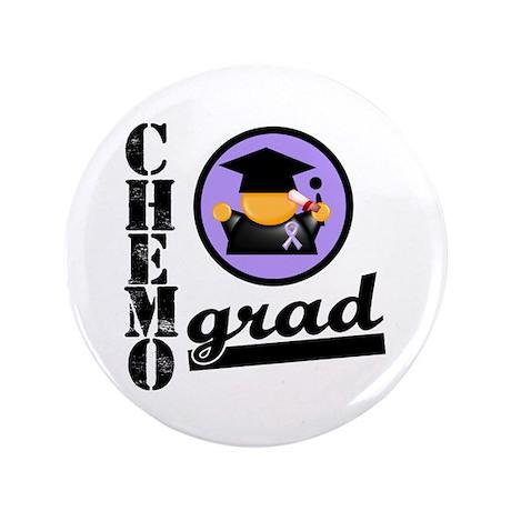 "Chemo Grad Cancer 3.5"" Button (100 pack)"