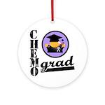 Chemo Grad Cancer Ornament (Round)