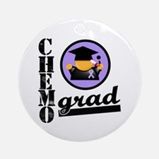 Chemo Grad Cancer Ornament (Round)
