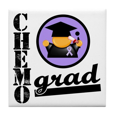 Chemo Grad Cancer Tile Coaster