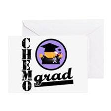 Chemo Grad Cancer Greeting Card