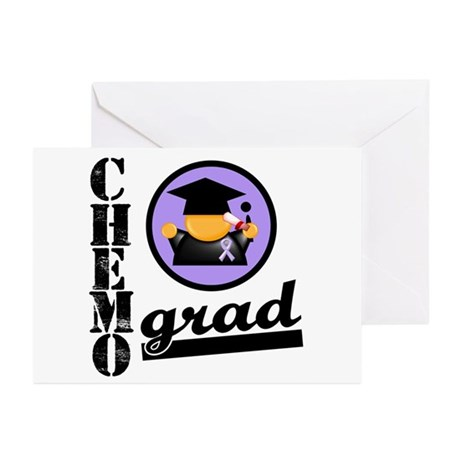 Chemo Grad Cancer Greeting Cards (Pk of 10)