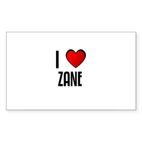 I LOVE ZANE Rectangle Sticker