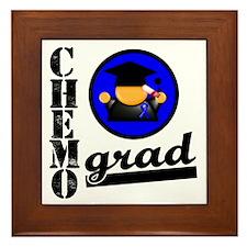 Chemo Grad Colon Cancer Framed Tile
