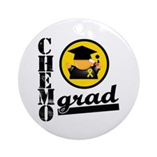 ChemoGradChildhoodCancer Ornament (Round)