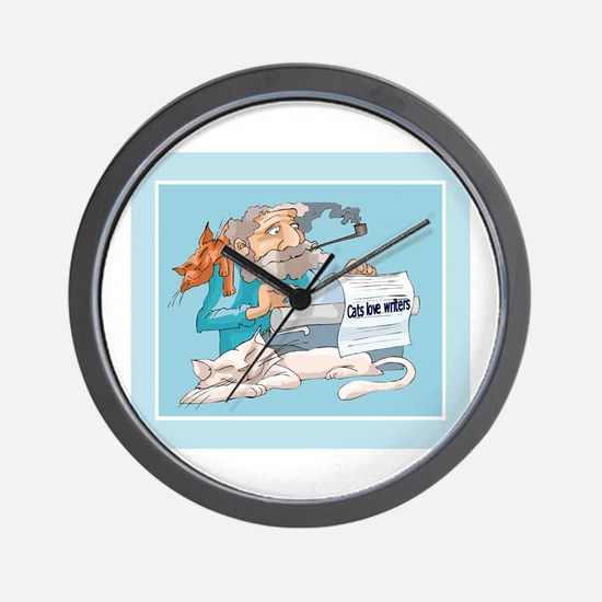 Cats & Writers Wall Clock
