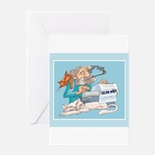 Cats & Writers Greeting Card