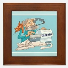 Cats & Writers Framed Tile