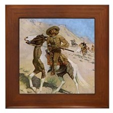 The Scout by Remington Framed Tile