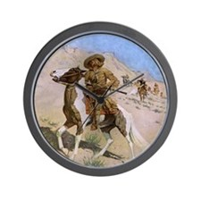 The Scout by Remington Wall Clock