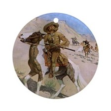 The Scout by Remington Ornament (Round)