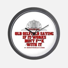 Oilfield Saying Wall Clock, Oil Patch Gift,Gas
