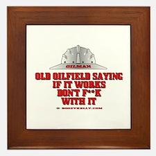 Oilfield Saying Framed Tile, Oil Field Gift, Oil