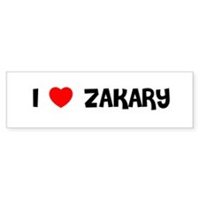 I LOVE ZAKARY Bumper Bumper Sticker