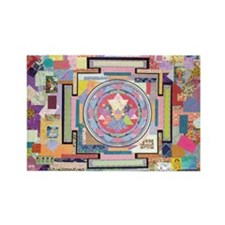 Sri Yantra Collage Rectangle Magnet