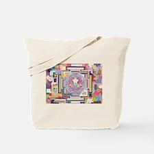 Sri Yantra Collage Tote Bag
