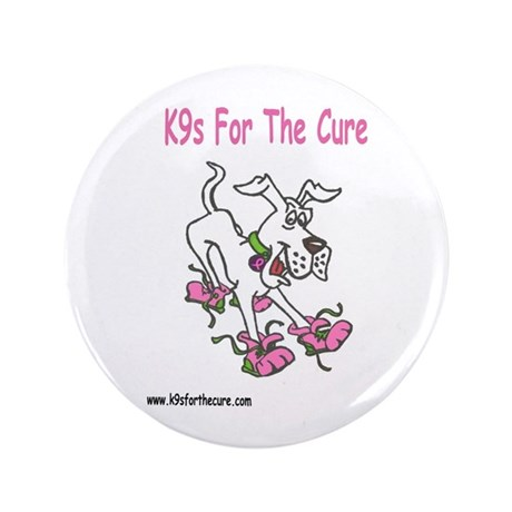 """K9s For The Cure 3.5"""" Button (100 pack)"""