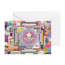 Sri Yantra Collage Greeting Card