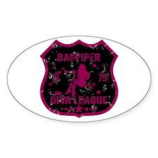 Bagpiper Diva League Oval Decal