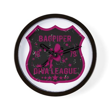 Bagpiper Diva League Wall Clock
