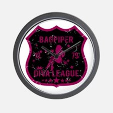 Bagpiper Diva League Wall Clock