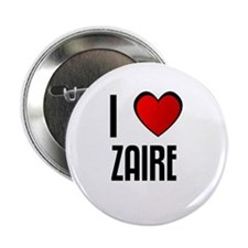 "I LOVE ZAIRE 2.25"" Button (10 pack)"