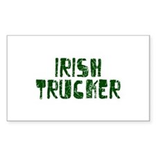 Irish Trucker Rectangle Decal