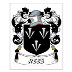 Rees Coat of Arms Small Poster