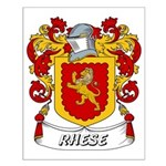 Rhese Coat of Arms Small Poster