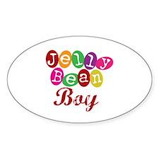 Jelly Bean Boy Oval Decal