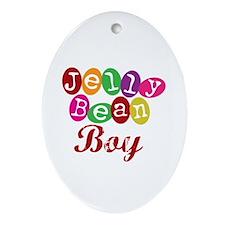 Jelly Bean Boy Oval Ornament
