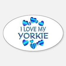 Yorkie Oval Decal