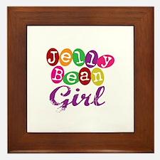 Jelly Bean Girl Framed Tile