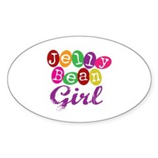 Jelly Bean Girl Oval Decal