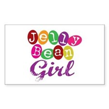 Jelly Bean Girl Rectangle Decal