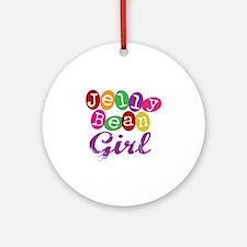 Jelly Bean Girl Ornament (Round)
